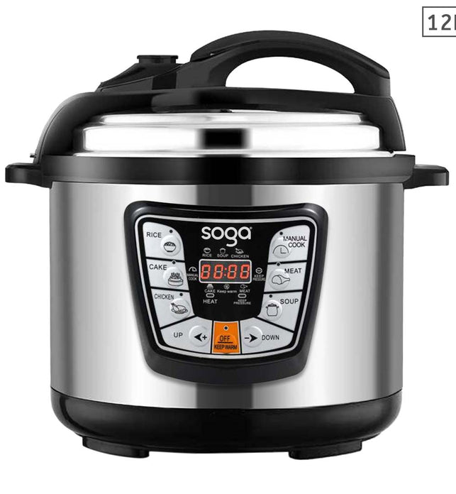 Electric Stainless Steel Pressure Cooker 12L Nonstick