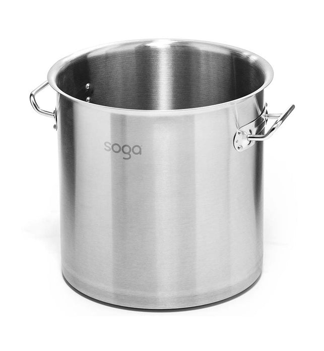50L Top Grade 18/10 Stainless Steel Stockpot No Lid