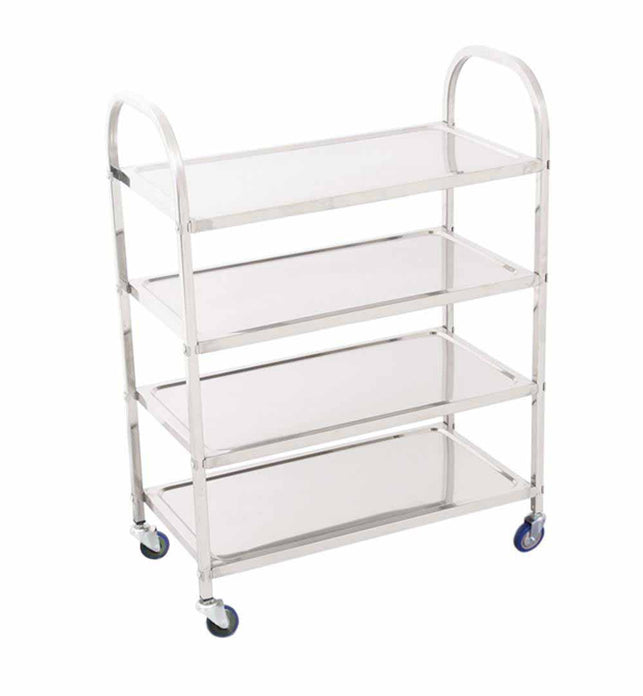 4 Tier Stainless Steel Utility Cart Square Small