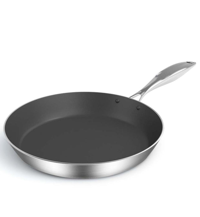 Stainless Steel 24cm Frying Pan Non Stick