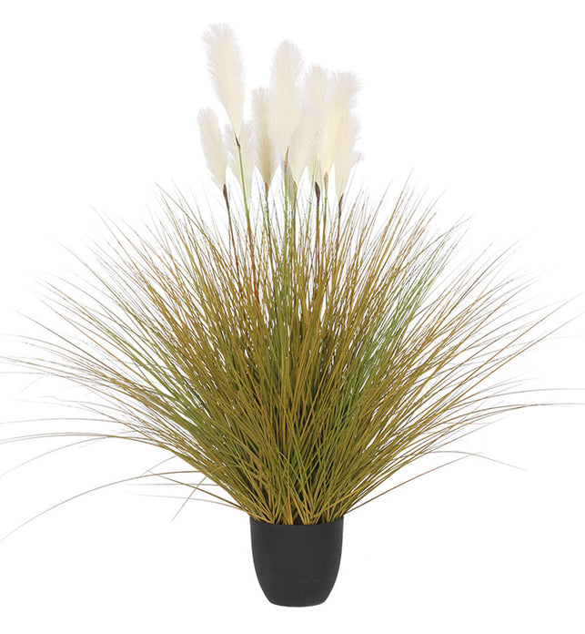 137cm Artificial Indoor Potted Reed Bulrush Grass