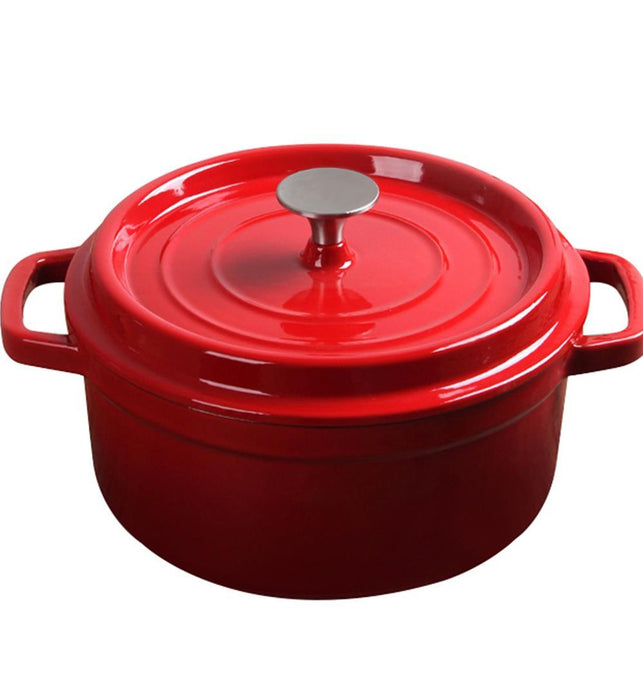 Cast Iron Porcelain Casserole 3.6L Red 24cm