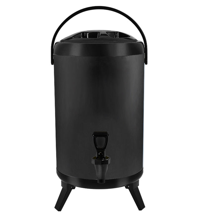 10L Stainless Steel Milk Tea Barrel with Faucet Black