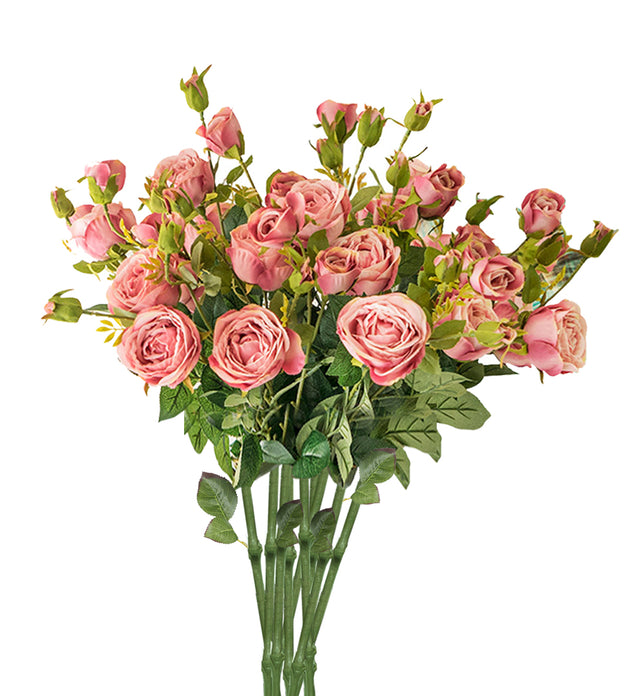 10 Bunch Artificial Rose 6 Heads Pink