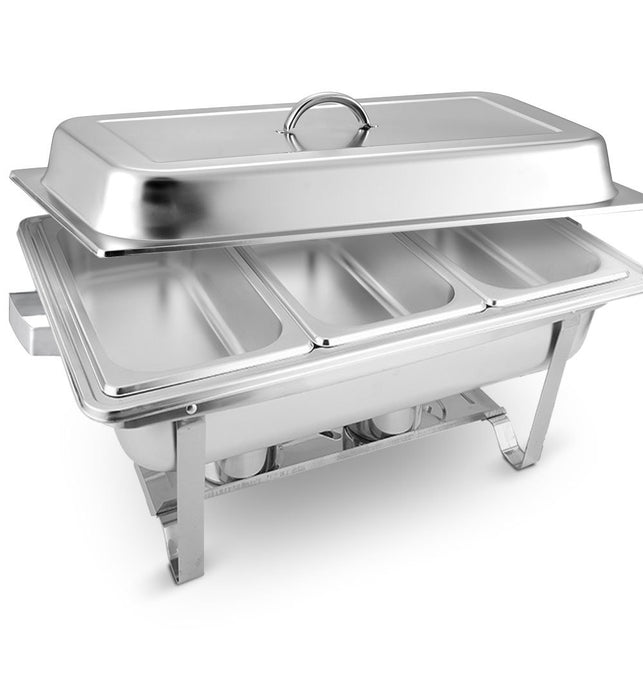 3L Triple Tray Stainless Steel Chafing Food Warmer