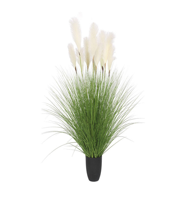 110cm Artificial Indoor Potted Reed Bulrush Grass