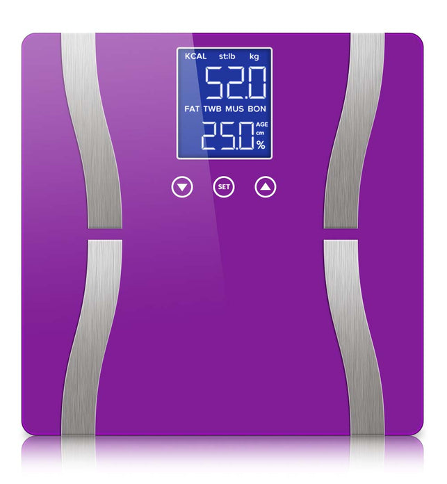 Digital Body Fat Scale Purple