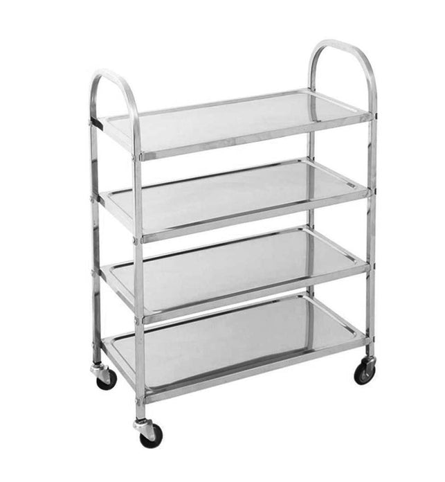 4 Tier Stainless Steel Utility Cart 950x500x1220