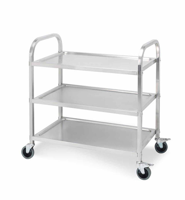 3 Tier Stainless Steel Utility Cart 95x50x95cm Large
