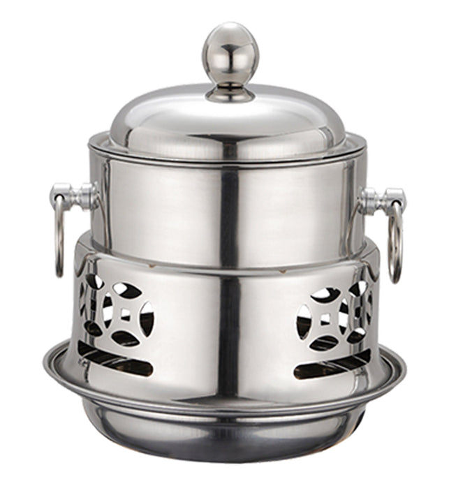 Stainless Steel Single Hot Pot with Lid
