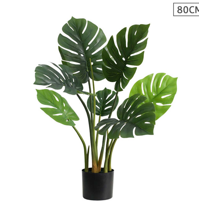 80cm Artificial Potted Turtle Back Plant