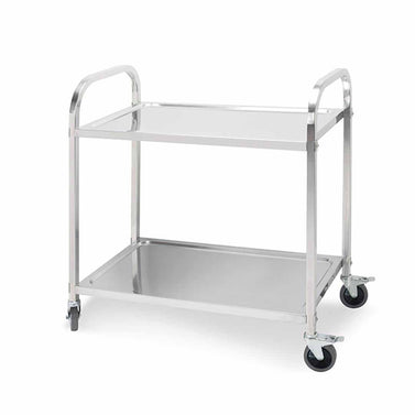 2 Tier Stainless Steel Utility Cart 75x40x83.5cm Small