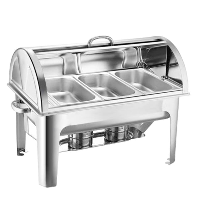 3L Triple Tray Stainless Steel Roll Top Food Warmer