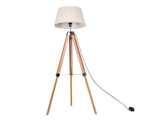 Modern Wooden Floor Lamp Tripod
