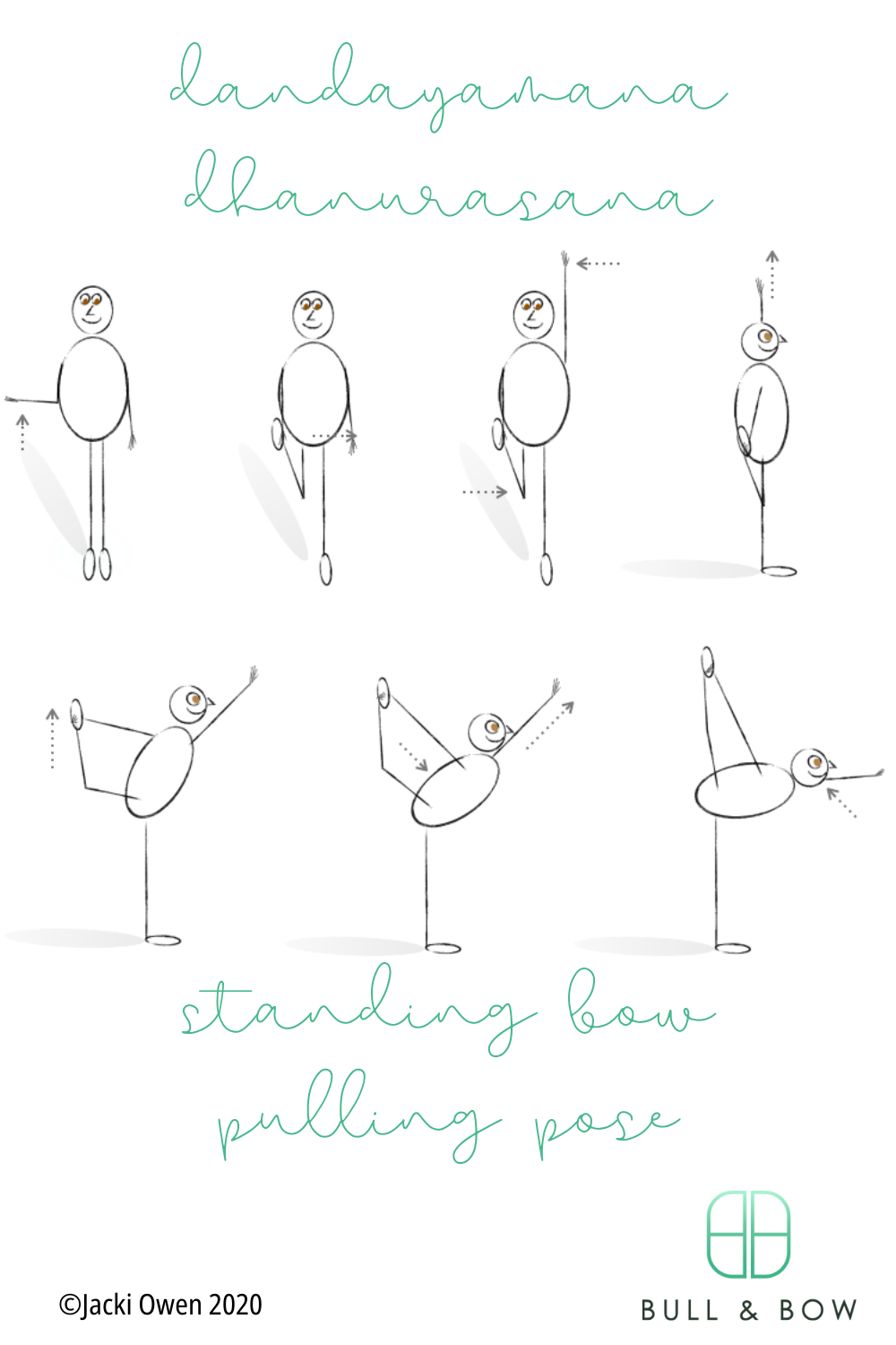 standing bow pulling pose from the bikram yoga series