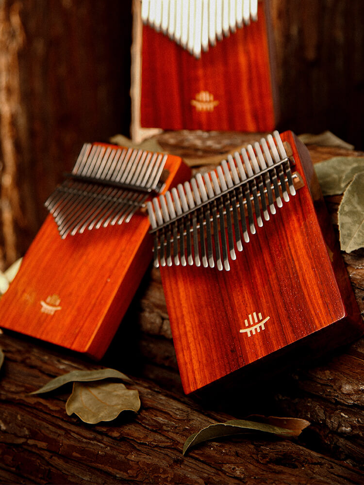 Hluru 17/21 Keys Kalimba Redwood with Carry Box | First Class