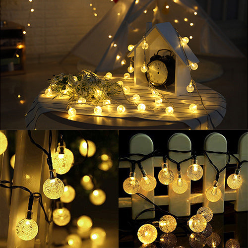 【Christmas Sale】Crystal Ball Outdoor String Lights