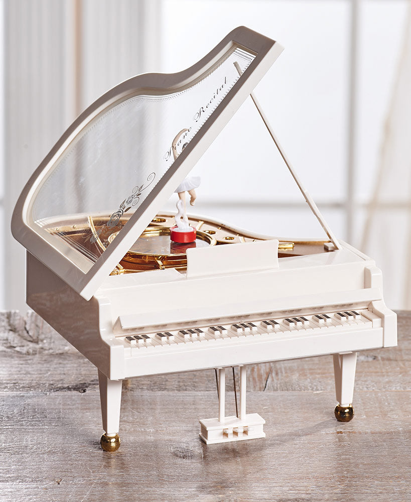 Piano W/ Ballerina Music Box