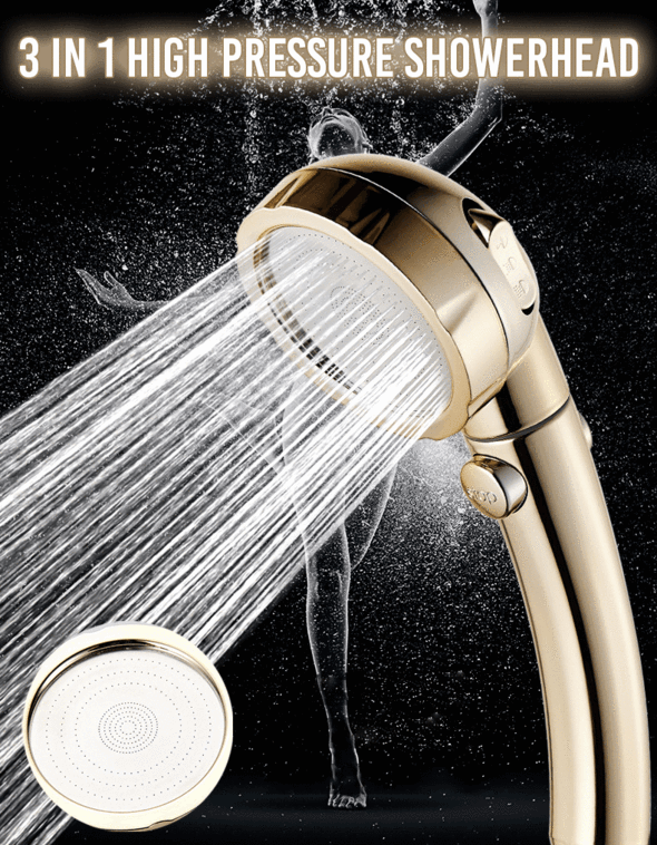 3-in-1 High Pressure Showerhead