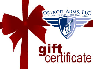 gift certificates for the detroit arms michigan concealed carry ccw