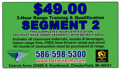 Detroit Arms USCCA Michigan Online Concealed Pistol License Class - SEGMENT ONE