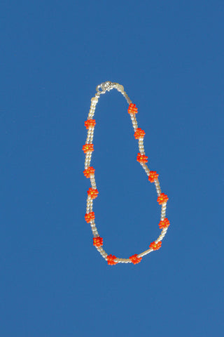 Dazy Necklace - Fire Orange