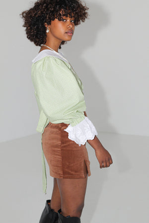 Celia Blouse - Lime Gingham