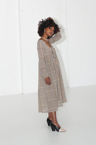 Ophelia Dress - Seersucker Linen