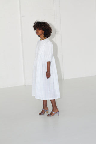 Greta Dress - Seersucker Cotton