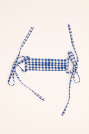 Mask - Blue Gingham