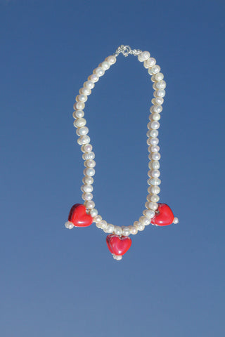 Cuore Necklace - Red