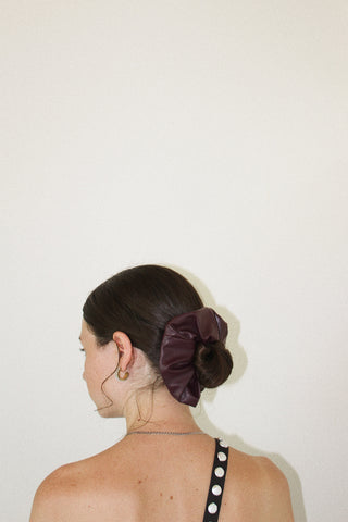 Faux Leather Scrunchie