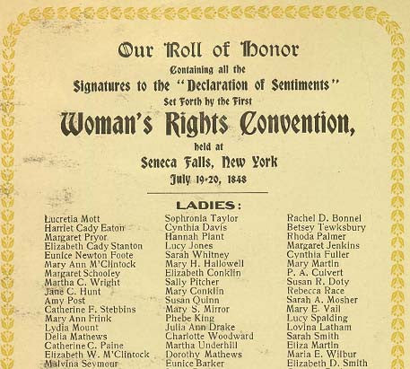 New Declarations The Women S Rights Movement In 1848 And