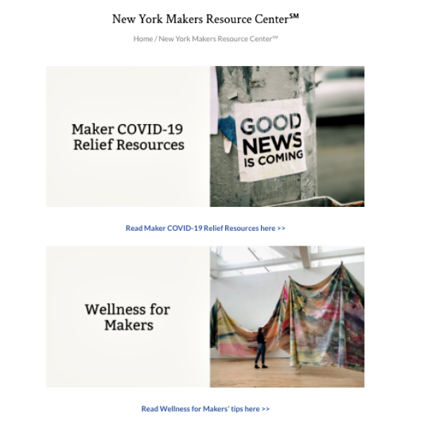 NEWS | New York Makers Debuts Digital New York Makers Resource Center℠