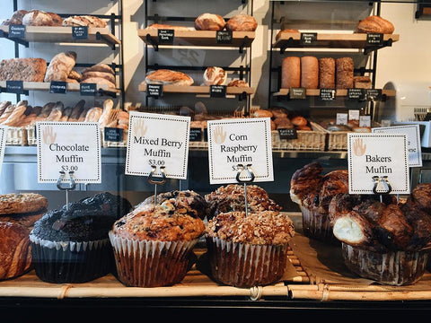 Muffins at Bread Alone Bakery