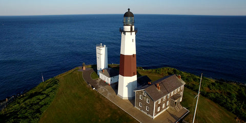 aerial view of the lighthouse