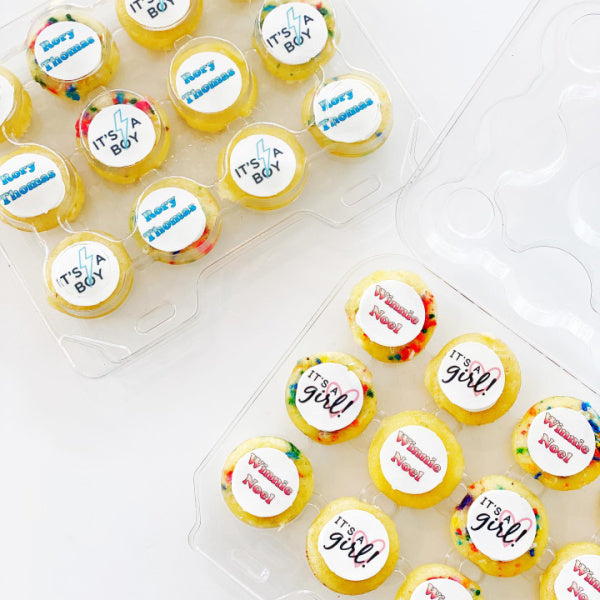 Personalized Mini Cupcakes (2 Dozen)