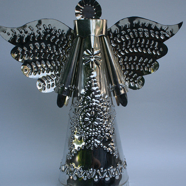 Glowing Angel Tin Votive - Art Thorman - Tinsmith - New York Makers
