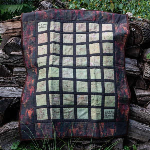 Adirondack 46er Topo Quilt - Greentree Fiber Arts - New York Makers