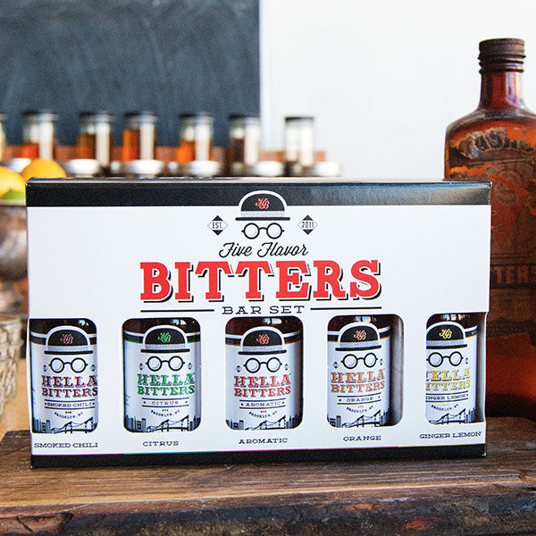 Five Flavor Bitters Bar Set - Hella Cocktail Co. - New York Makers