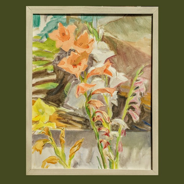 """Glads in the Studio"" Original Oil Painting"