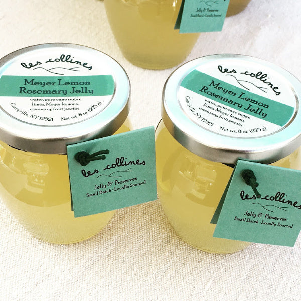 Meyer Lemon Rosemary Jelly in Multiple Sizes - les collines - New York Makers