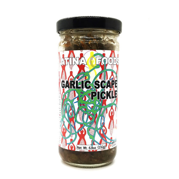 Garlic Scape Pickle - Atina Foods - New York Makers