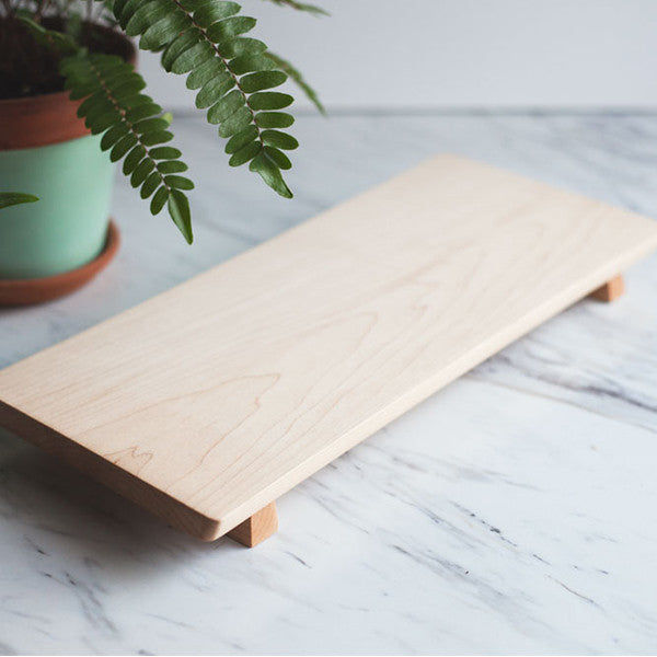 Footed Maple Serving Board