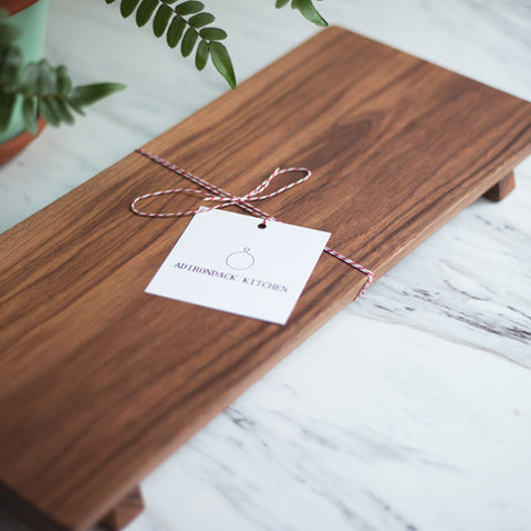 Walnut Footed Serving Board