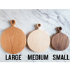Large Round Cherry Cutting Board