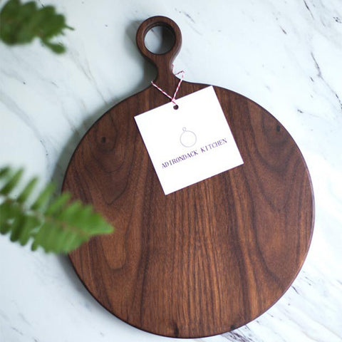 Large Round Walnut Cutting Board