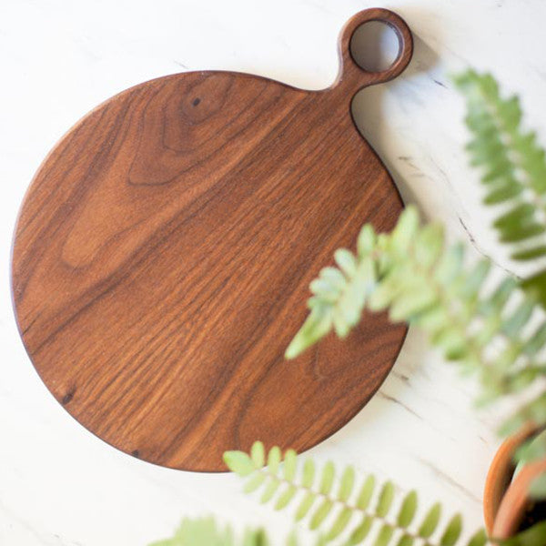Small Round Walnut Cutting Board