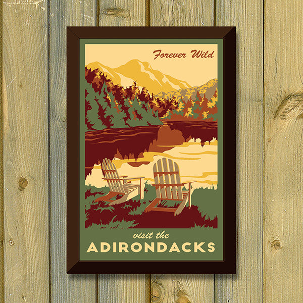 Adirondacks Print - Lionheart Graphics - New York Makers