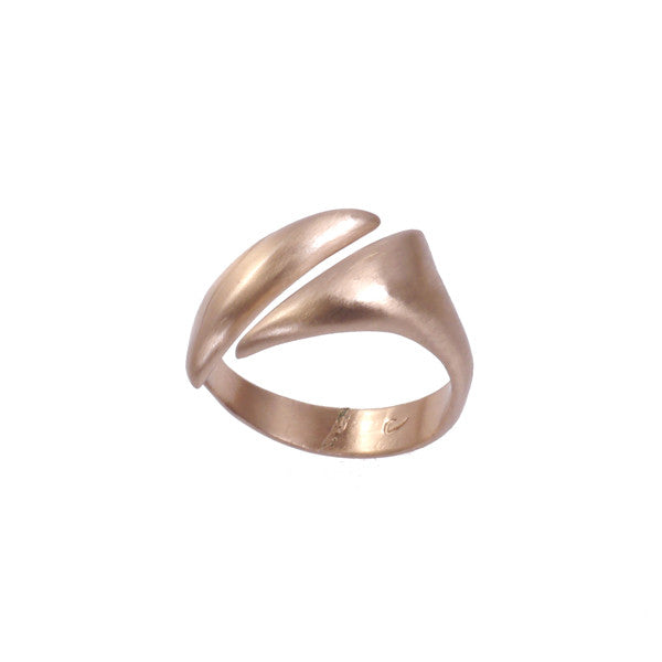 """Adrift"" Diagonal Ring in Bronze"